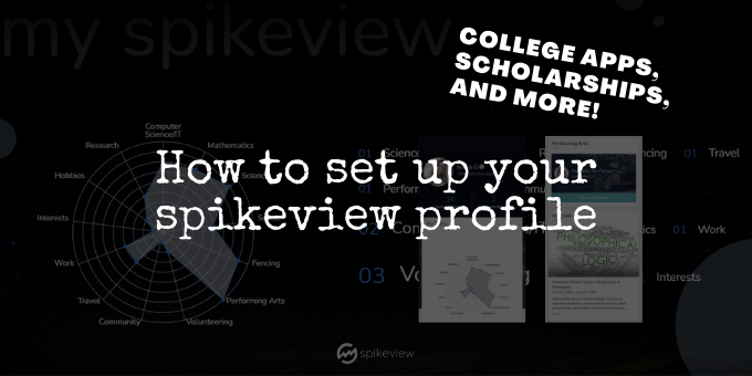 set up spikeview for college applications